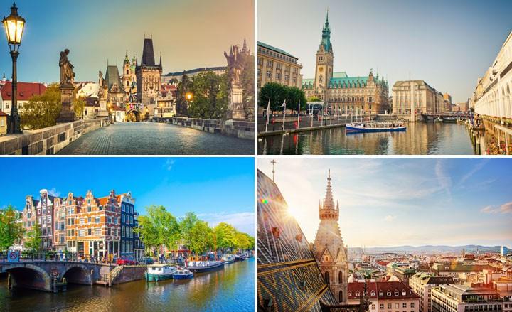 3 Tage - 20 Städte - 6 Länder: Amsterdam, Kopenhagen, Hamburg, Venedig...
