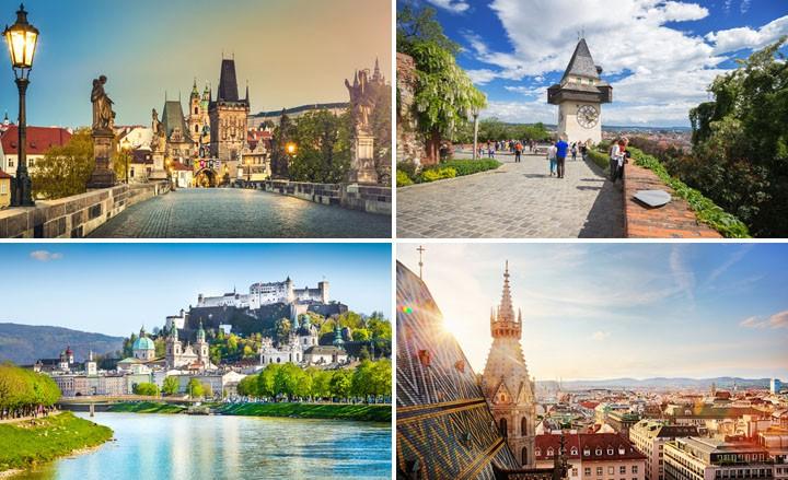Dein Städtetrip nach Wien, Prag, Graz oder Salzburg