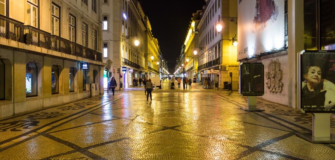 Einkaufsstraße von Lissabon