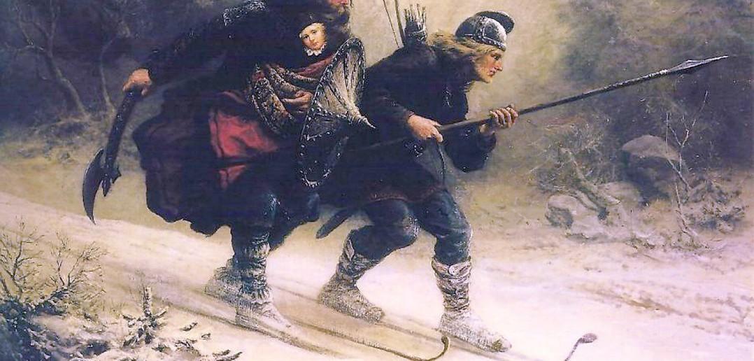 Skandinavische Skisoldaten . Bild: Knud Bergslien