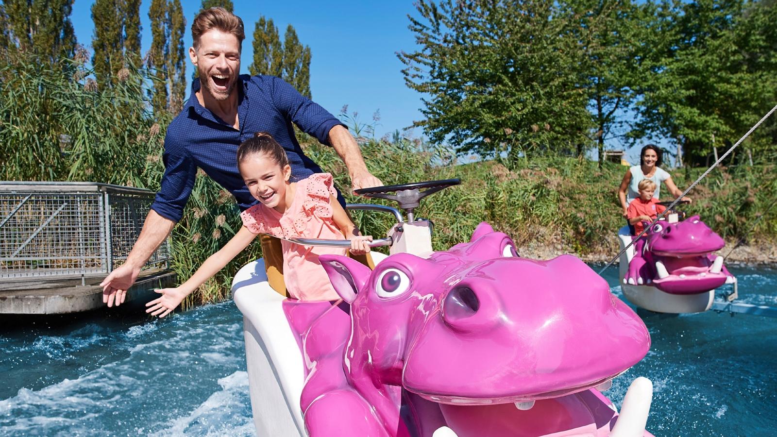 Ravensburger Spieleland Das Nilpferd in der Wasserbahn
