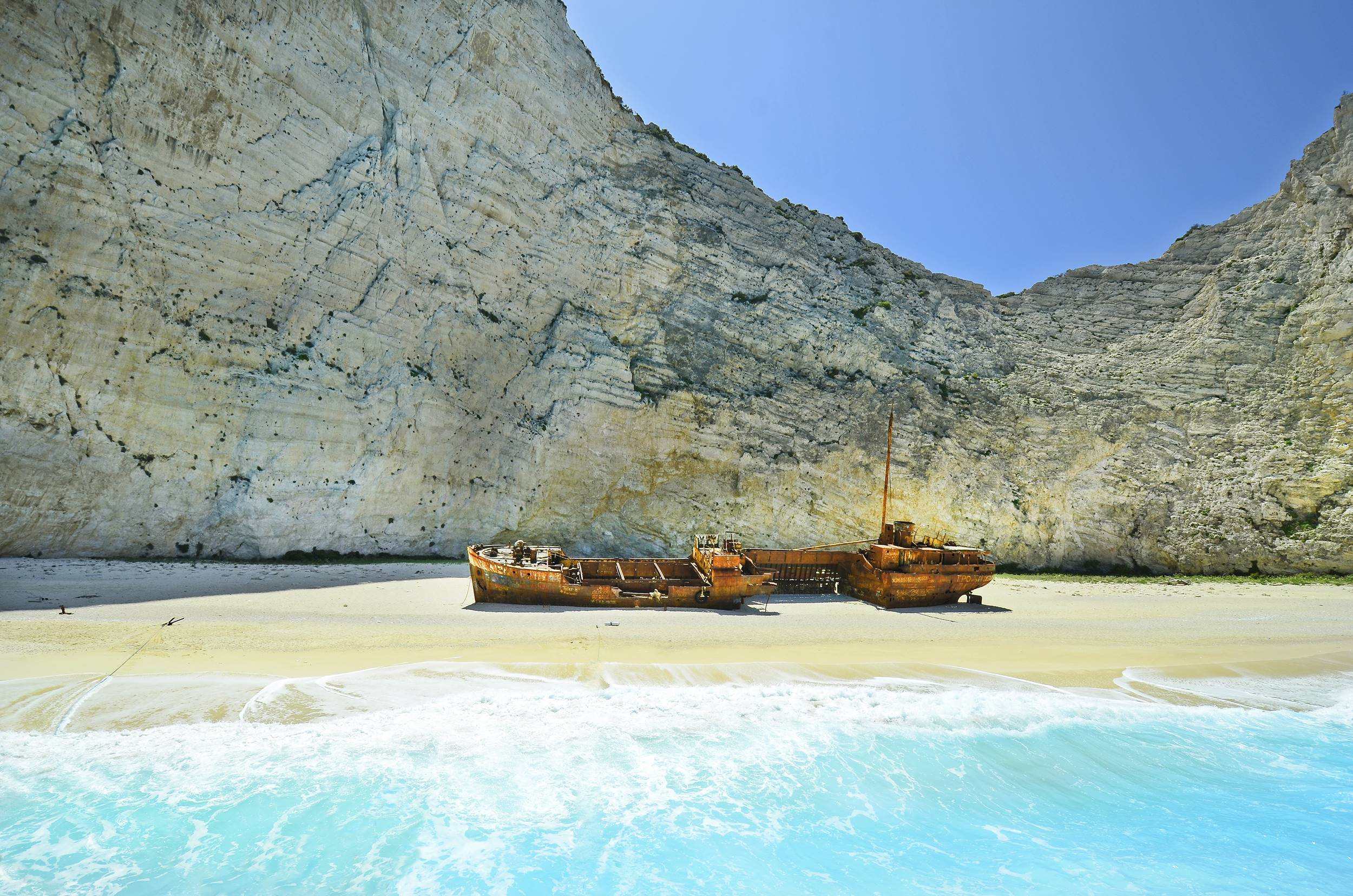 Greece, shipwreck beach on Zakynthos Island