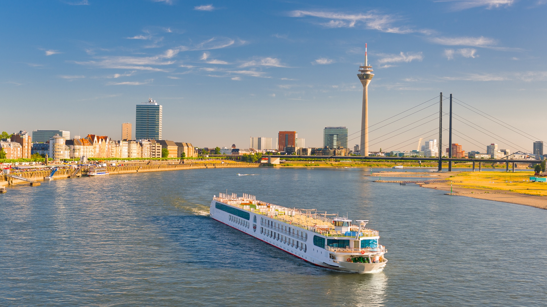 Dusseldorf in a sunny summer day