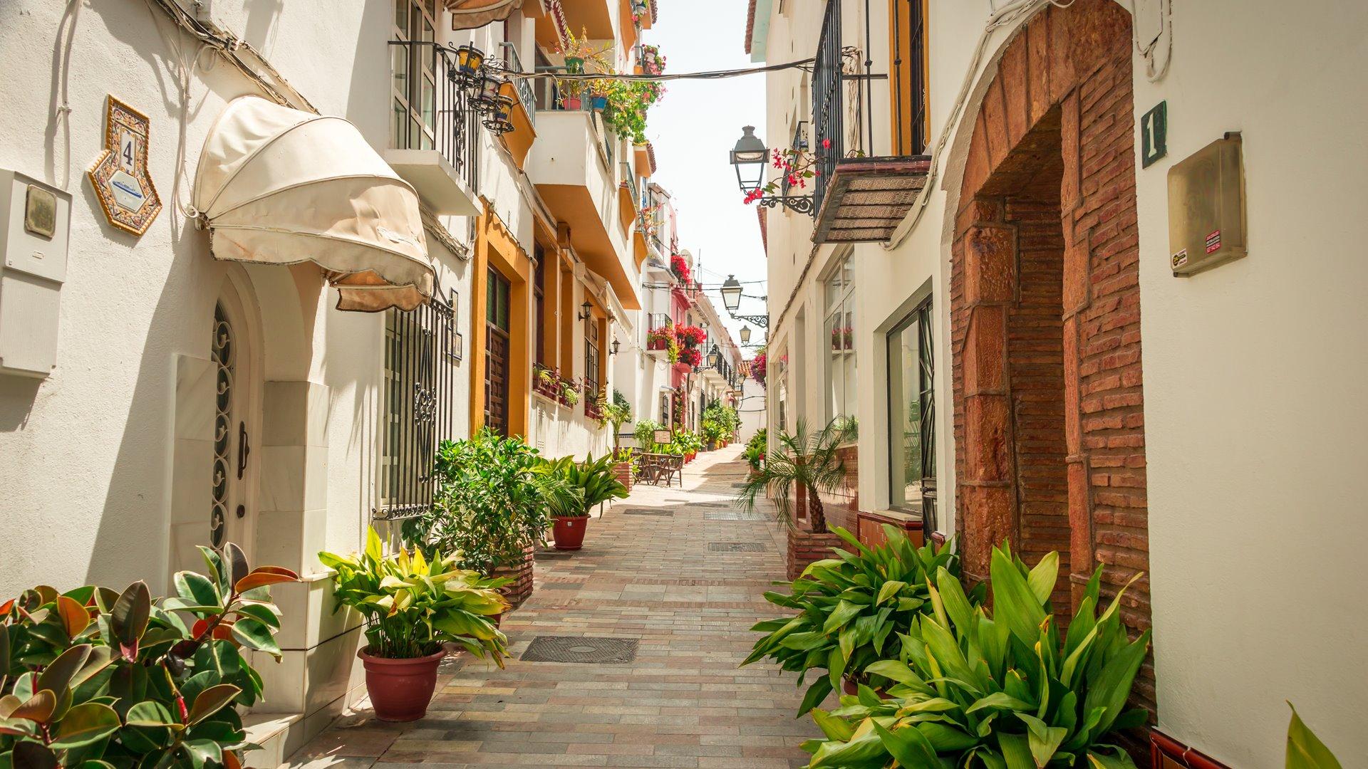 Streets of Marbella.
