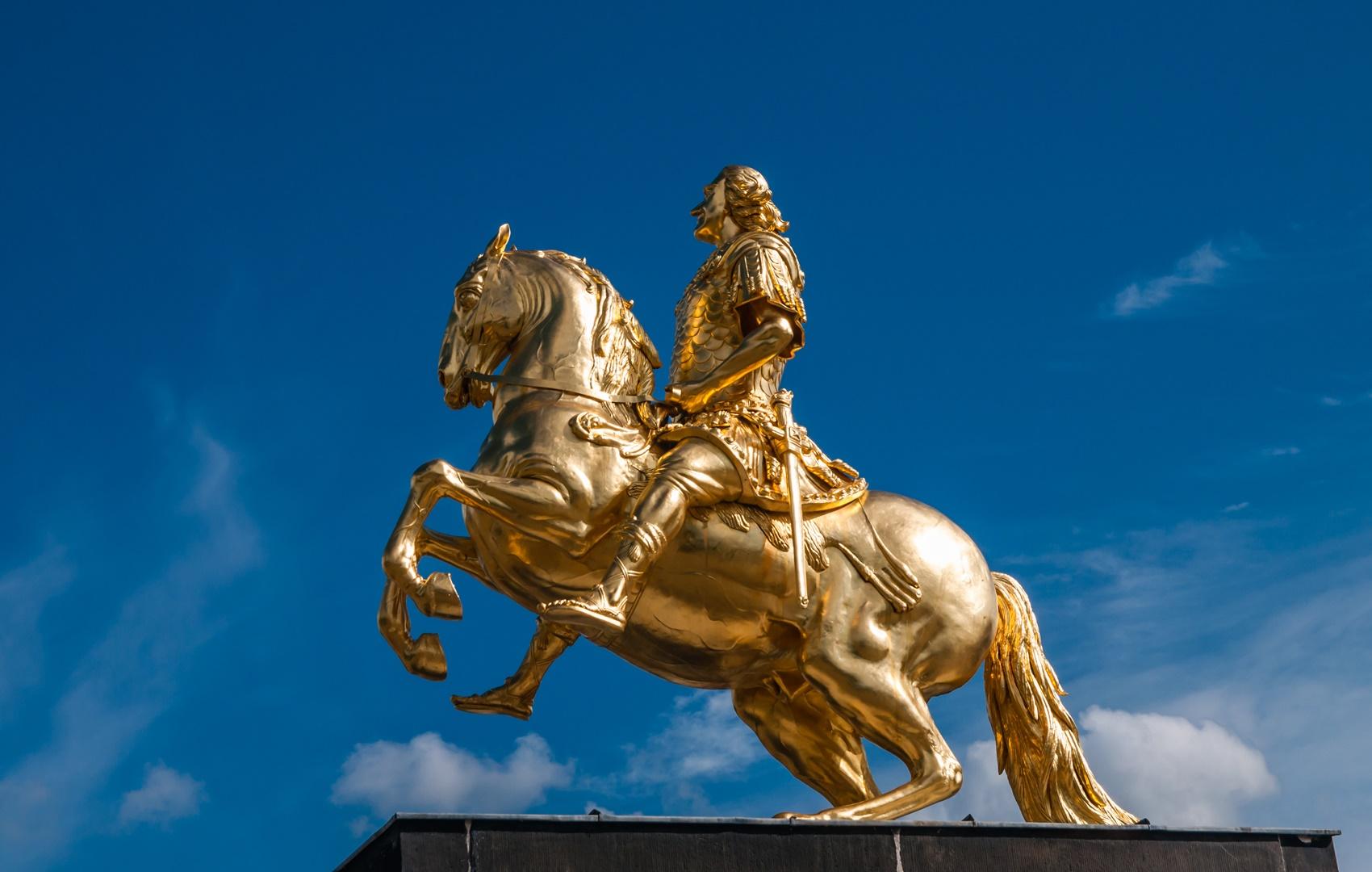 Goldener Reiter in Dresden; Sachsen; Deutschland