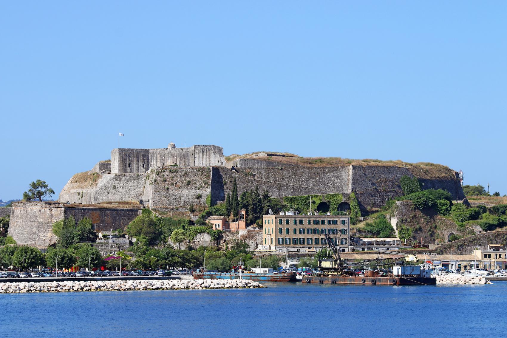 new fortress Corfu town Greece summer season