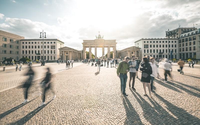 Pariser Platz und Brandenburger Tor