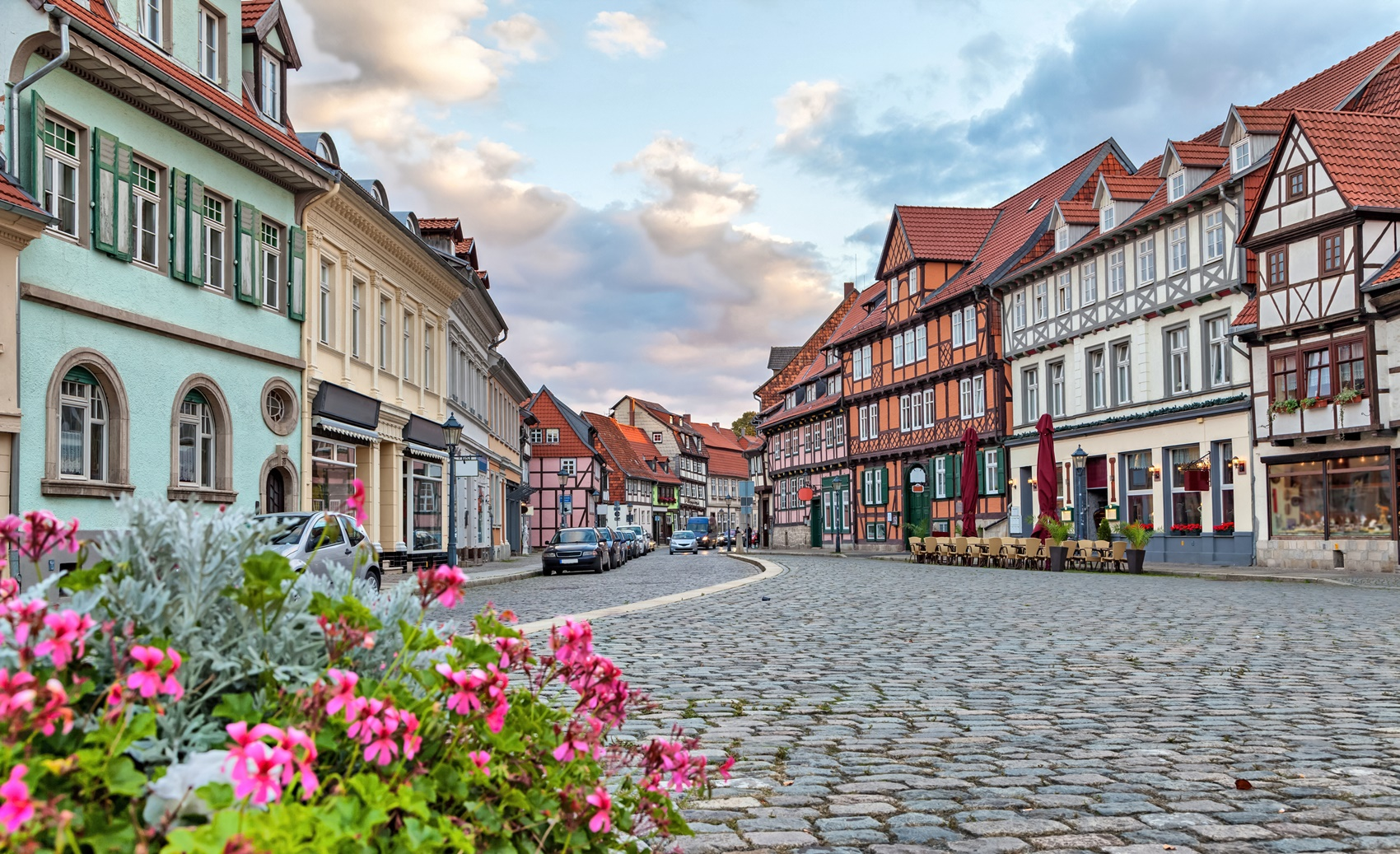 Traditional german houses in Quedlinburg