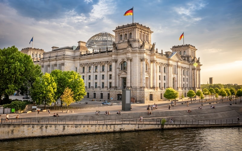 Regierungsviertel und Bundestag