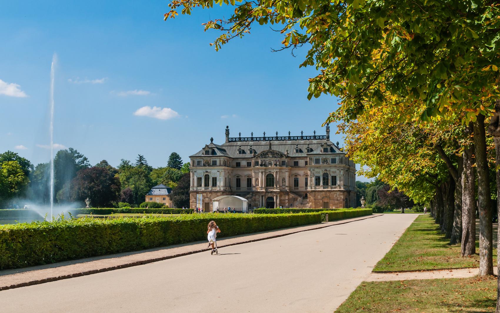 Dresden Palais Groer Garten; Deutschland