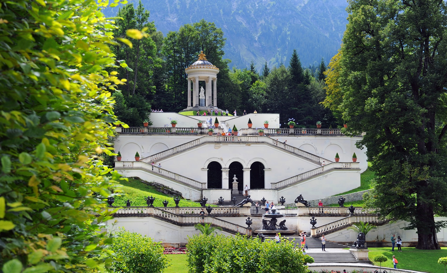 Linderhof Palace and garden in Bavaria, Germany