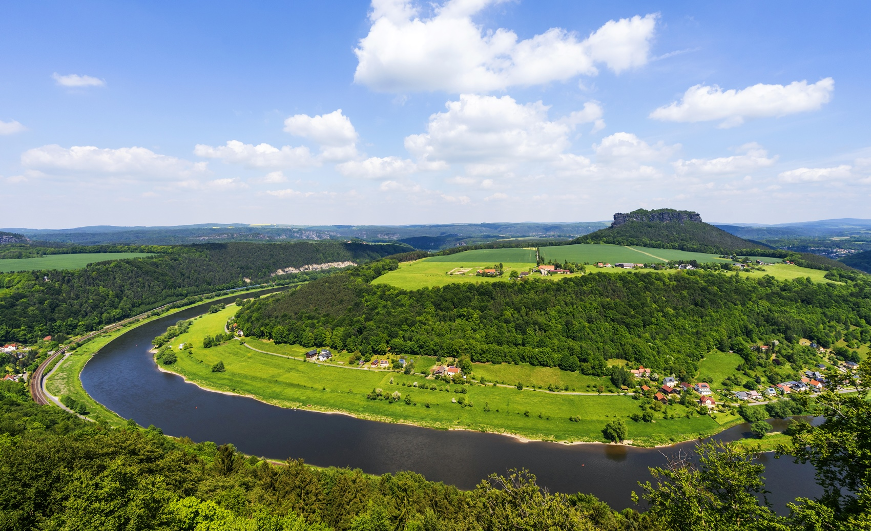 Ausblick von der Festung Knigstein in Sachsen