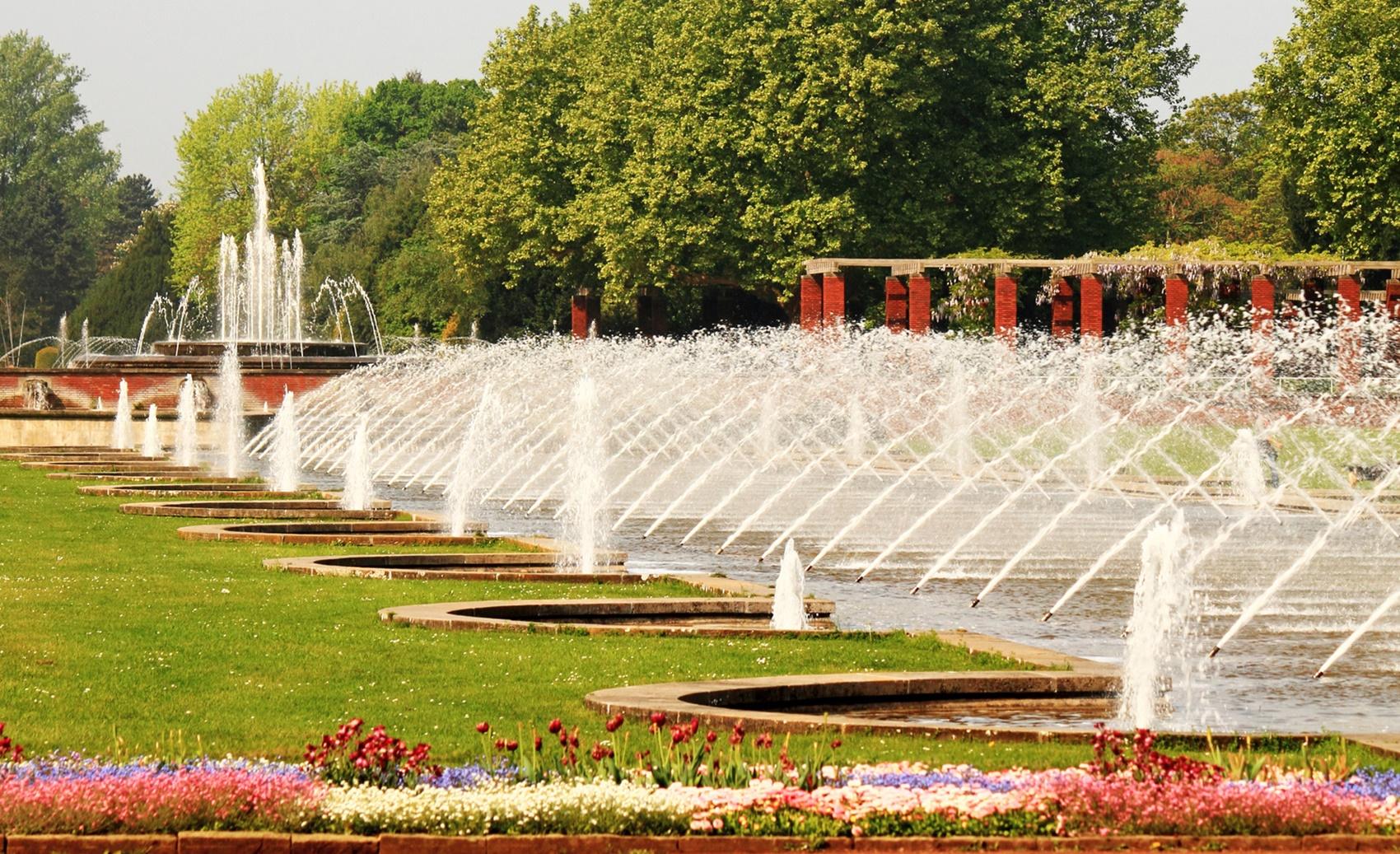 Wasserspiel im Nordpark - Dsseldorf