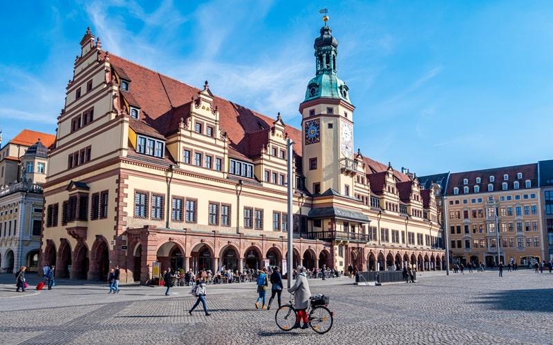 Leipzig Sehenswürdigkeiten Rathaus und Markt