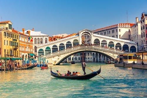 Canal Grande Rialto Brücke Venedig