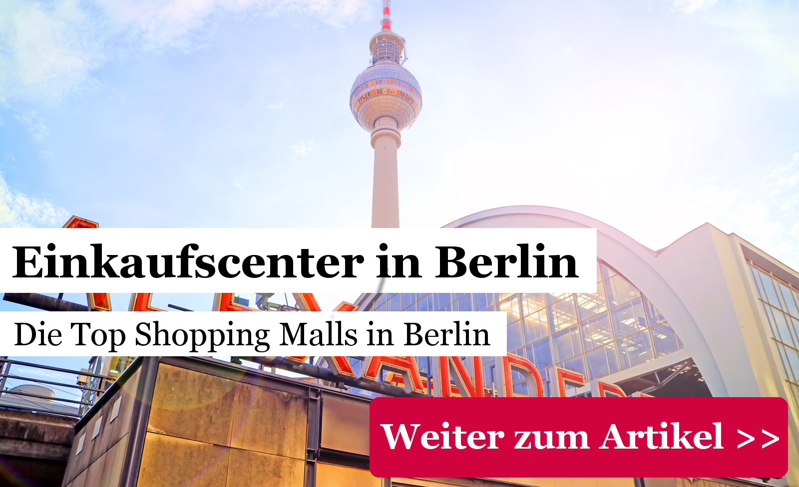 3089f5965838f7 Einkaufscenter Berlin  40 Shopping Center nach Berliner Bezirken