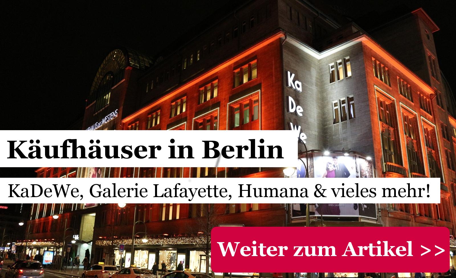 Kaufhäuser Berlin