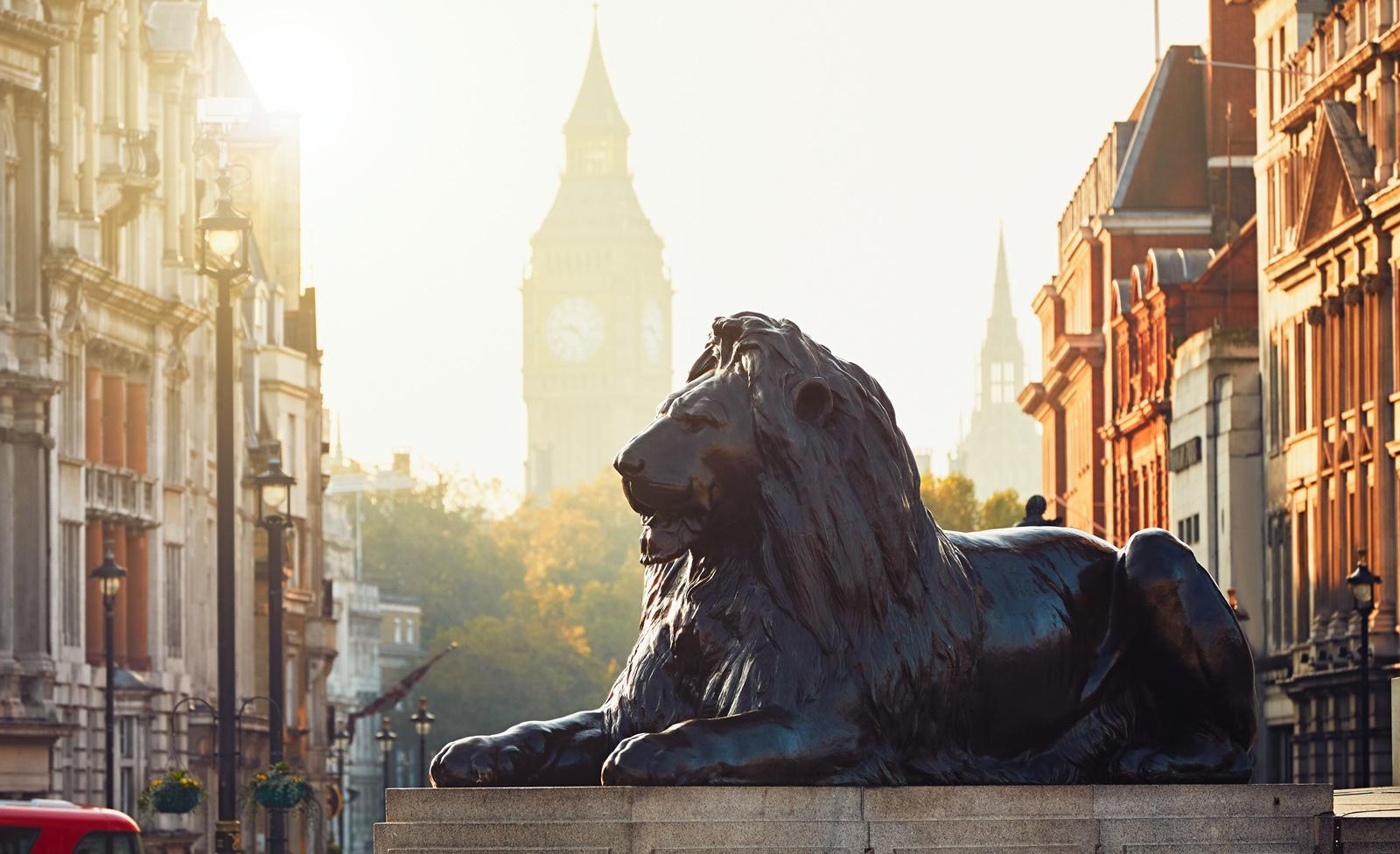 Löwenskulptur Trafalgar Square