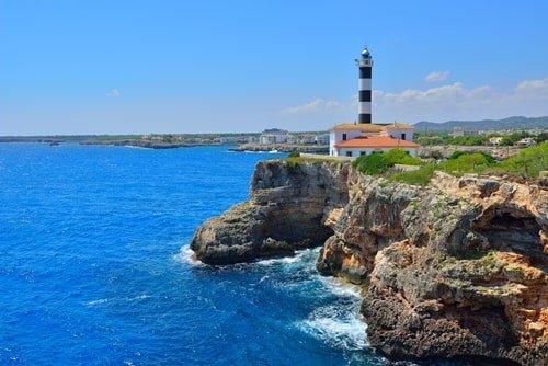 Leuchtturm von Porto Colom Mallorca
