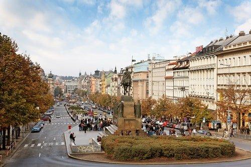 Wenzelsplatz in Prag