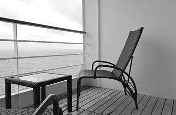 Kreuzfahrtschiff Balkon