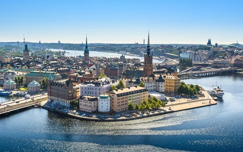 Luftaufnahme Altstadt von Schweden