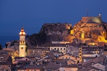 St. Spyridon Kirche bei Nacht Korfu Sehenswürdigkeiten