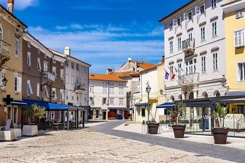 Stadt Cres Kroatien