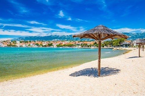 Strand auf Pag Kroatien