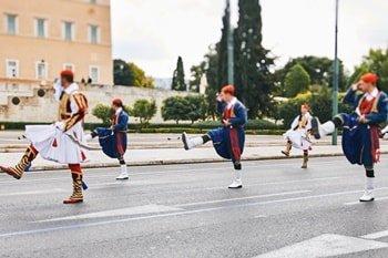Syntagma Platz Zeremonie
