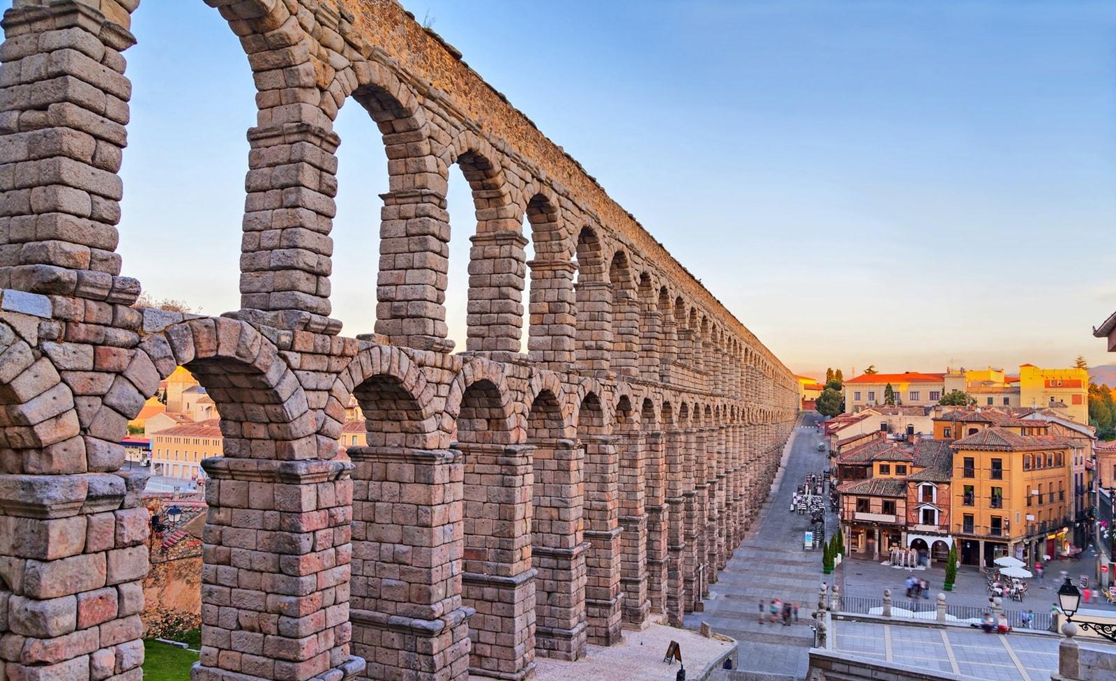 Aquädukt in der Nähe von Madrid