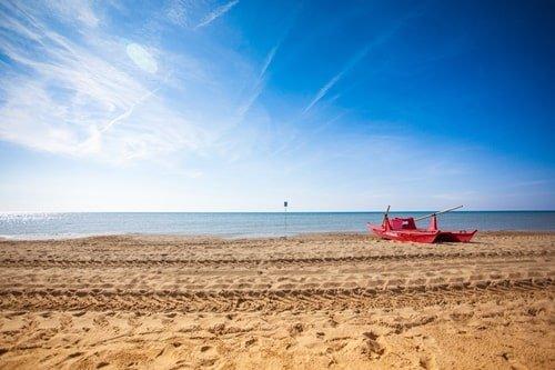 Bibione Strand in Italien