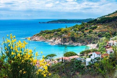 Cavoli beach auf Elba