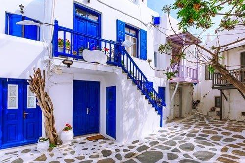Häuser auf Mykonos