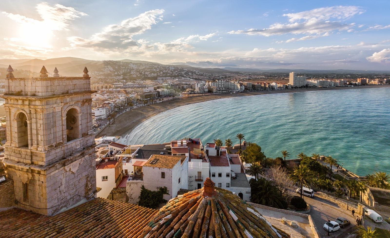 Strand und Hafen von Valencia