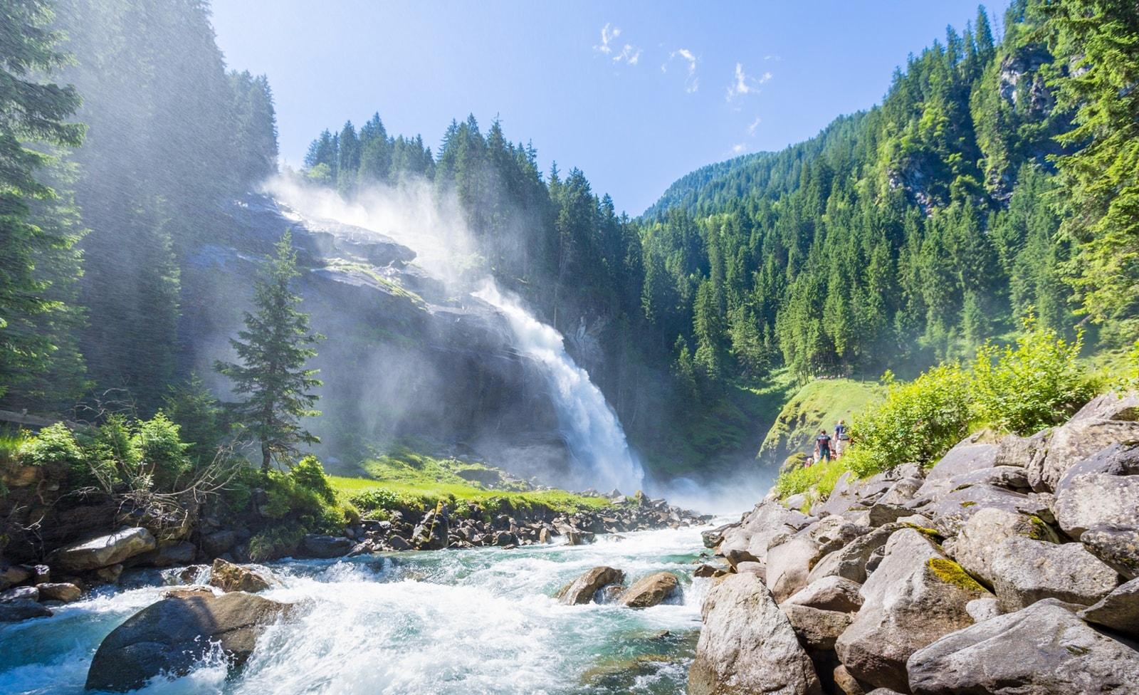 Wasserfälle in der Krimmler Wasserwelt
