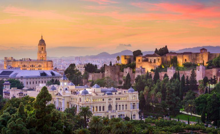 Ansicht der Stadt Malaga