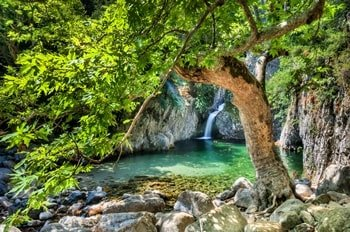 Samothraki Wasserfall