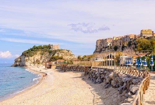 Sandy beach Tropea italien