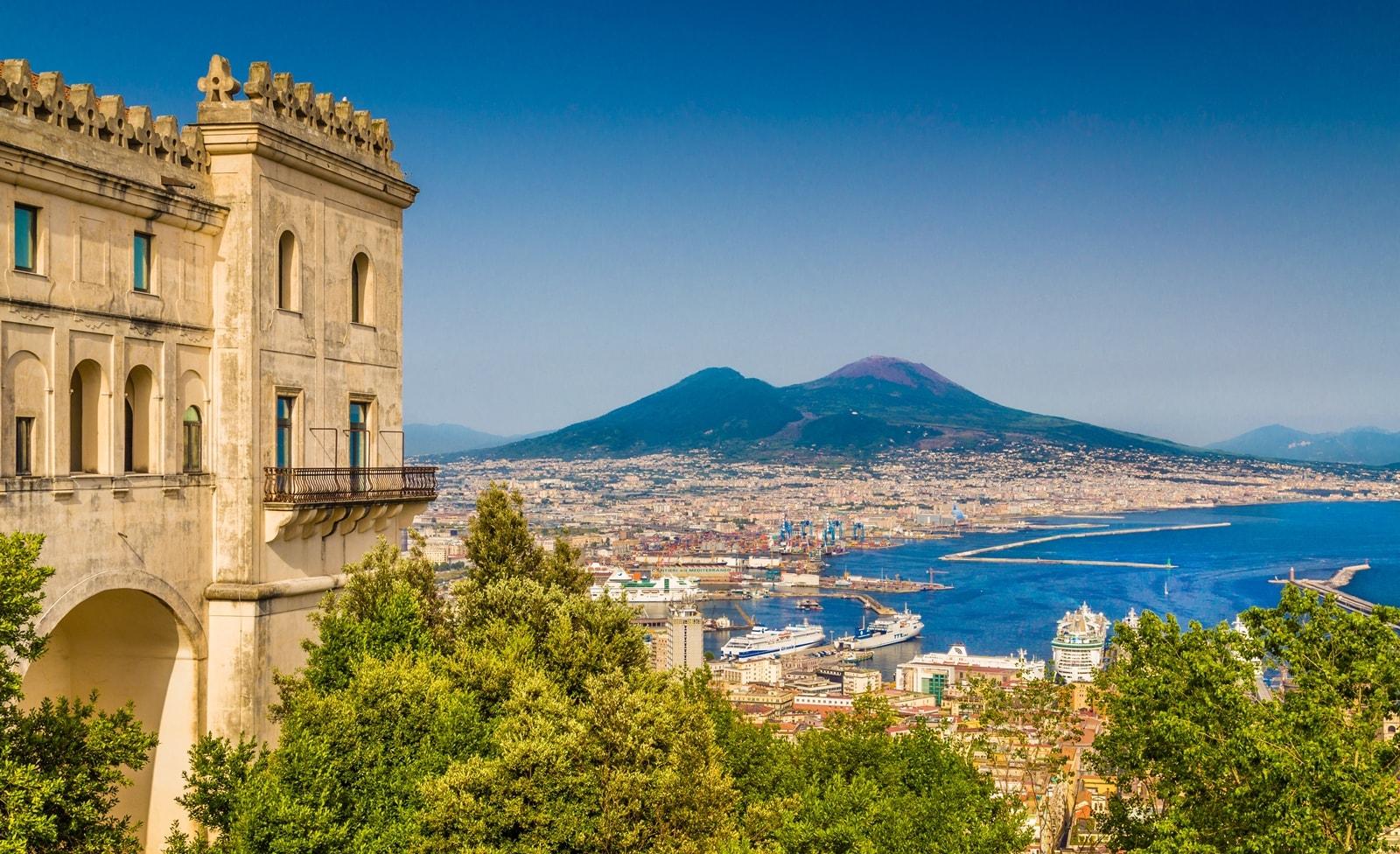 Der Vesuv in Italien