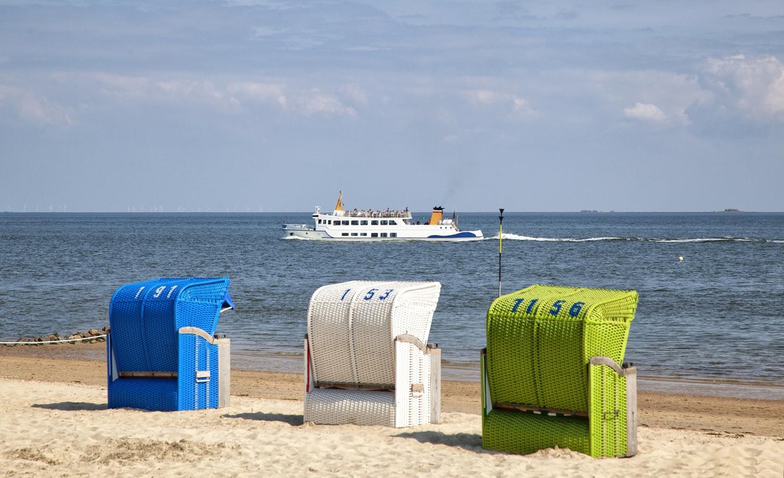 Strandkörbe an der Nordsee