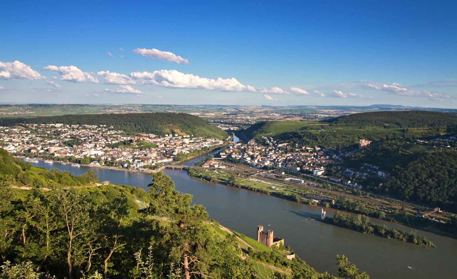 Aussichtspunkt am Rhein
