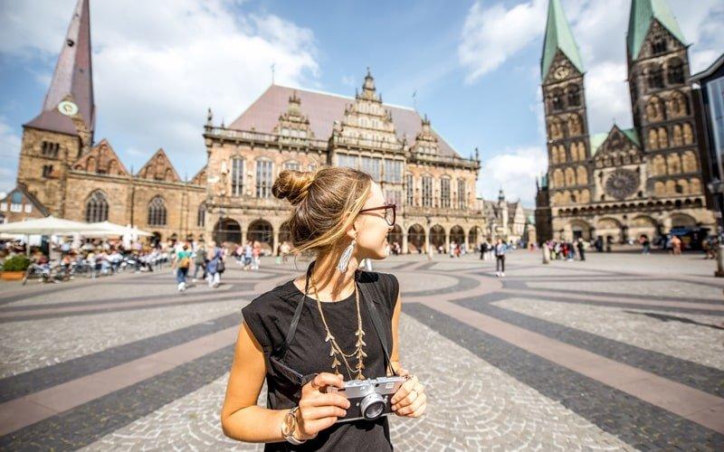 Touristin Bremen