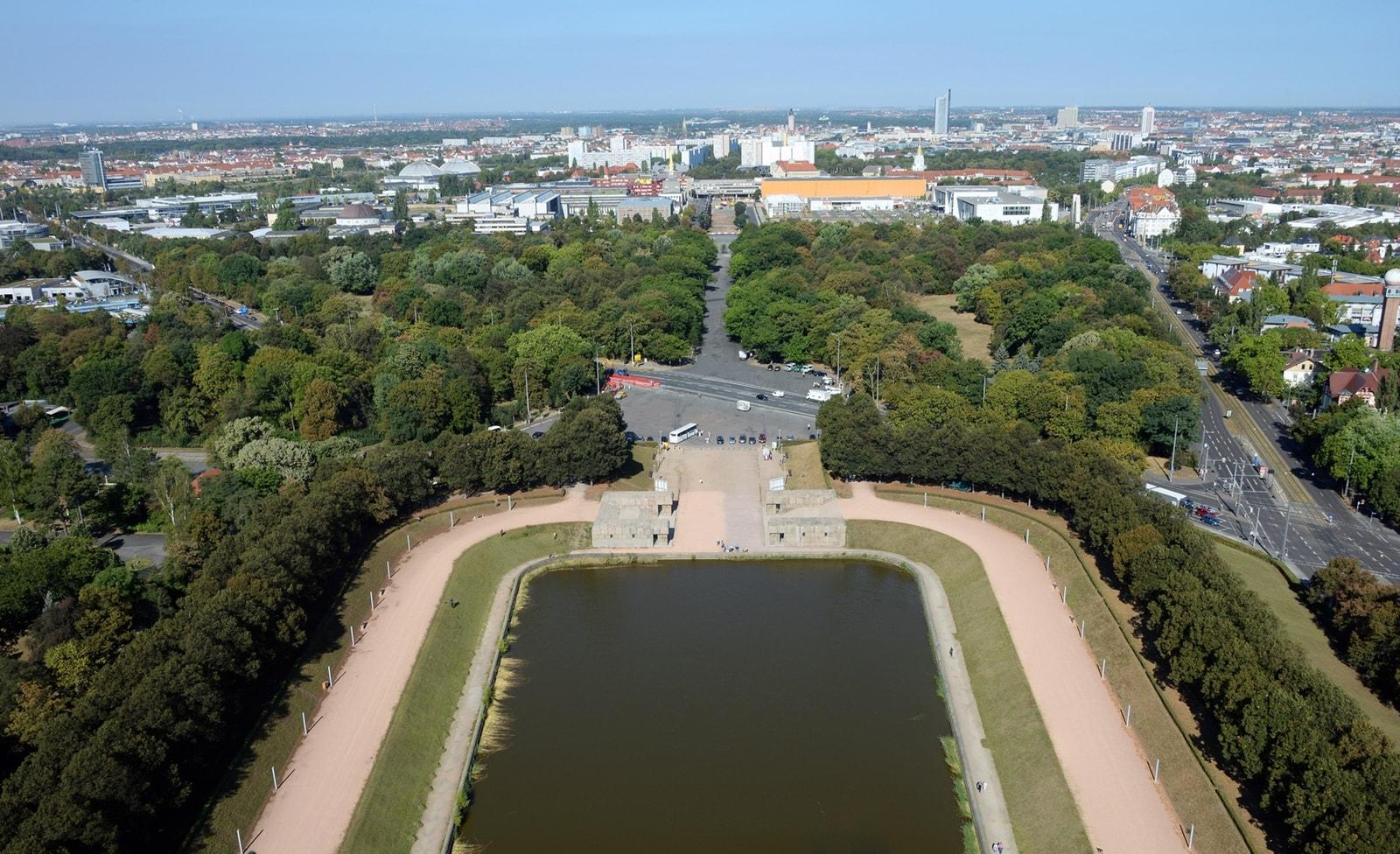 Aussicht vom Völkerschlachtdenkmal