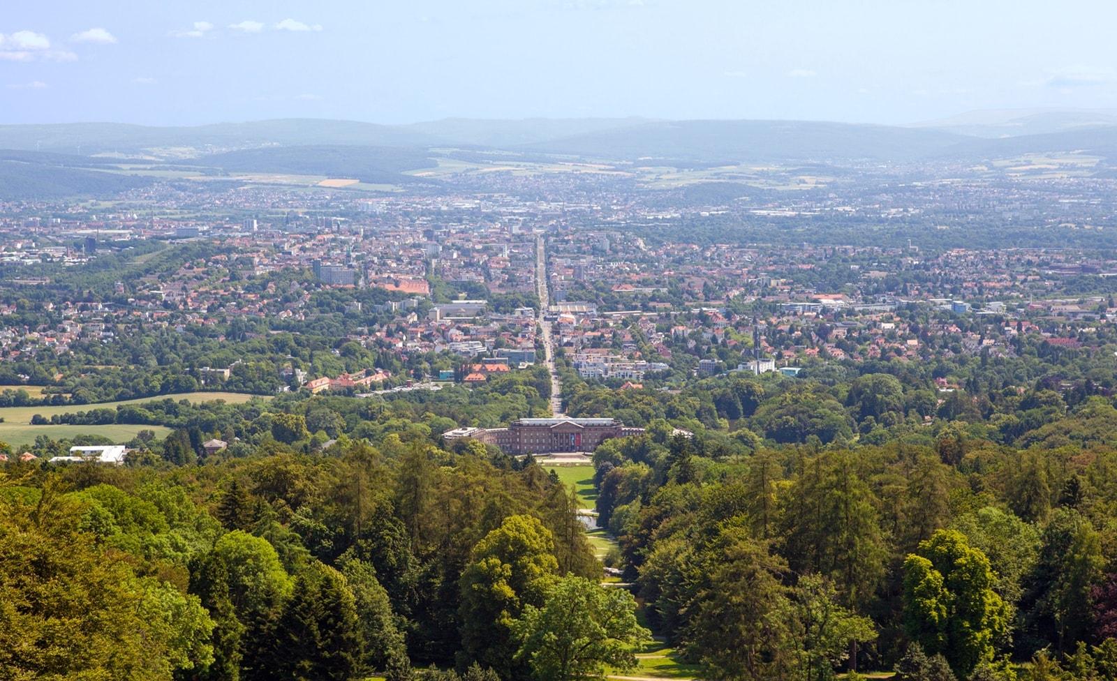 Aussicht vom Herkules in Kassel