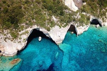 Blaue Grotte Eingang