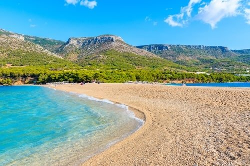 Sandstrand Goldenes Horn Kroatien