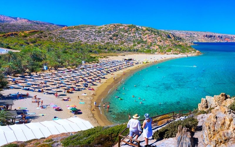 Strand von Vai Kreta