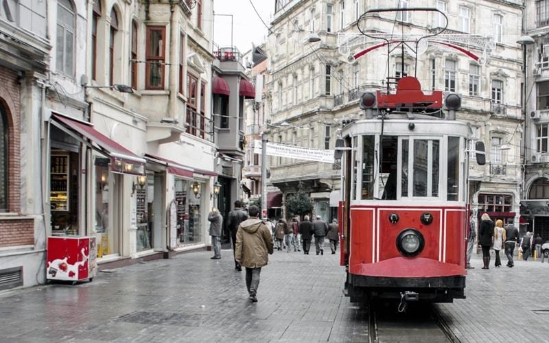 Hauptverkehrsplatz in istanbul
