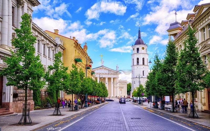 Stadtansicht Hauptstadt Litauen